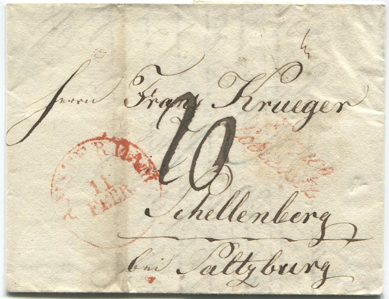 Briefe aus der Vormarkenzeit aus - nach und über Salzburg Amster10