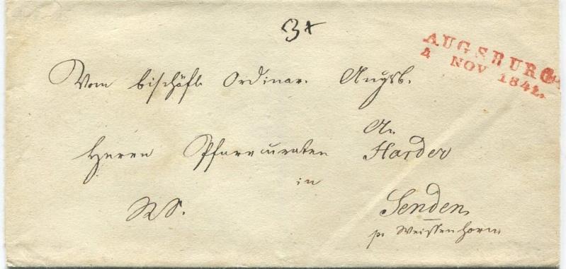 Briefe aus der Vormarkenzeit mit Botenlohnvermerken Augsbu10