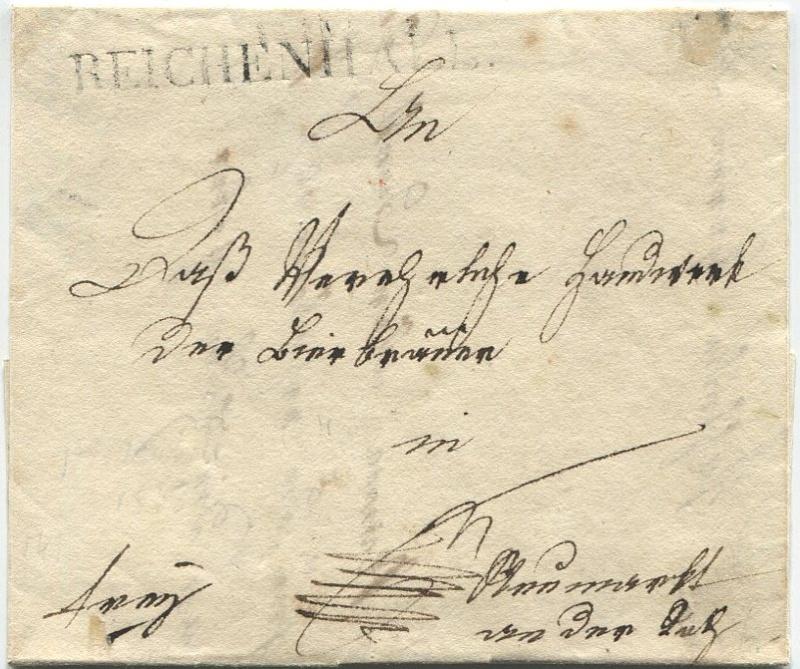 Briefe aus der Vormarkenzeit aus - nach und über Salzburg Reiche10