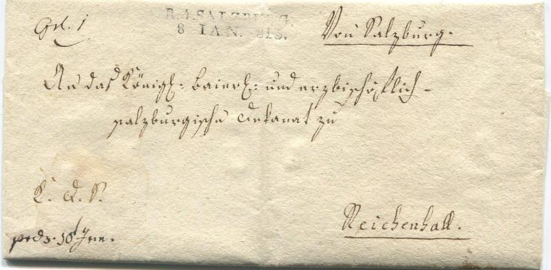 Briefe aus der Vormarkenzeit aus - nach und über Salzburg Salzbu10