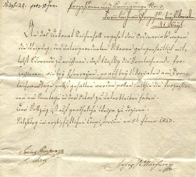 Briefe aus der Vormarkenzeit aus - nach und über Salzburg Salzbu11