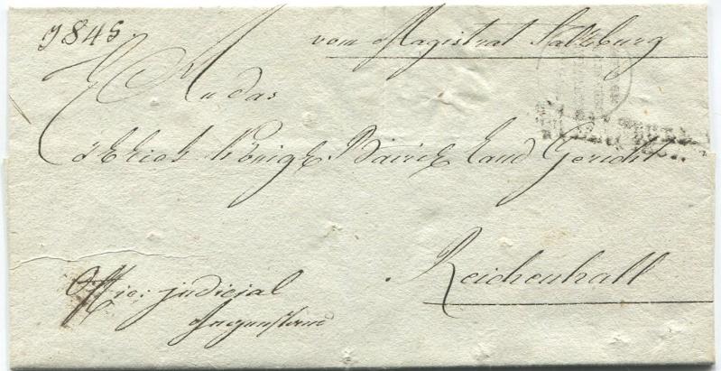 Briefe aus der Vormarkenzeit aus - nach und über Salzburg Salzbu12