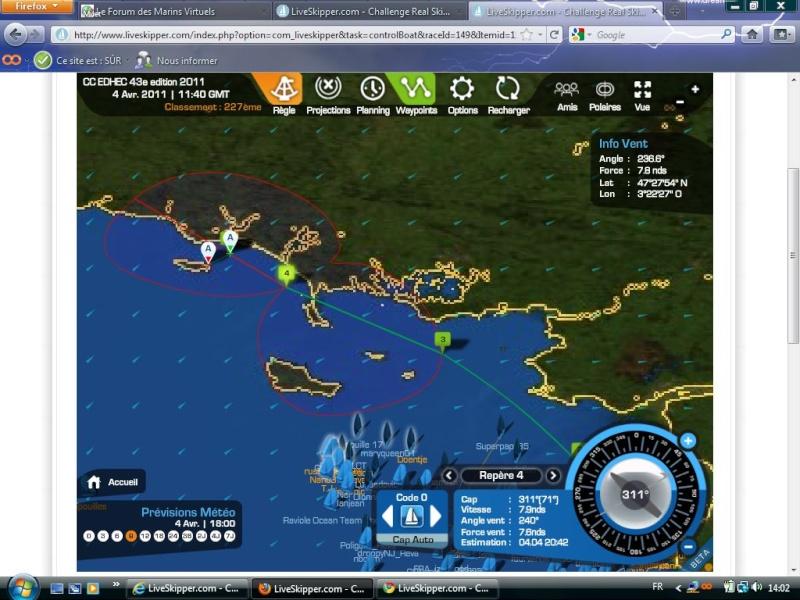 CC EDHEC 43e edition 2011 Départ le 01/04/2001 à 13h00 GMT  en équipage Captur90