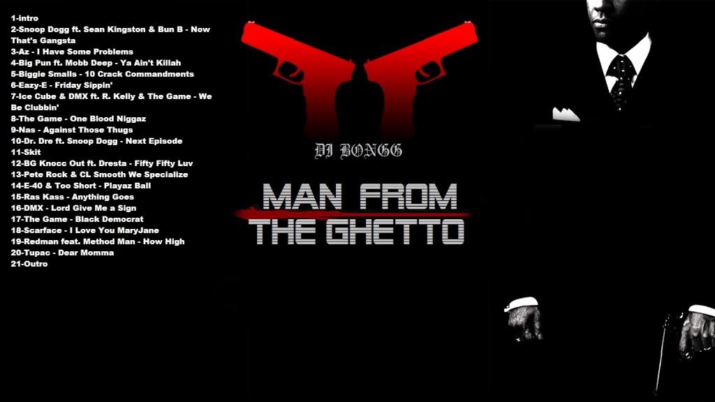 DJ BONGG - MAN FROM THE GHETTO MIXTAPE Back_c11