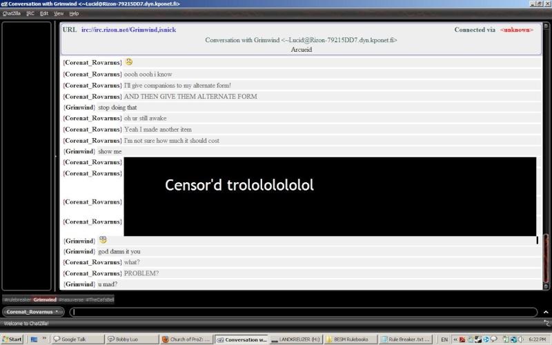 Trolling Rule Breaker IRC Trolli11