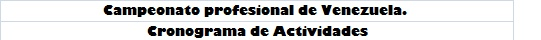 Cronograma de carreras campeonato profesional Portad11