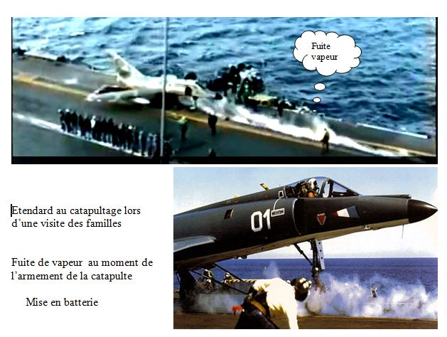 Réalisation d'un effet de vapeur sur catapulte du PA Foch Captur10