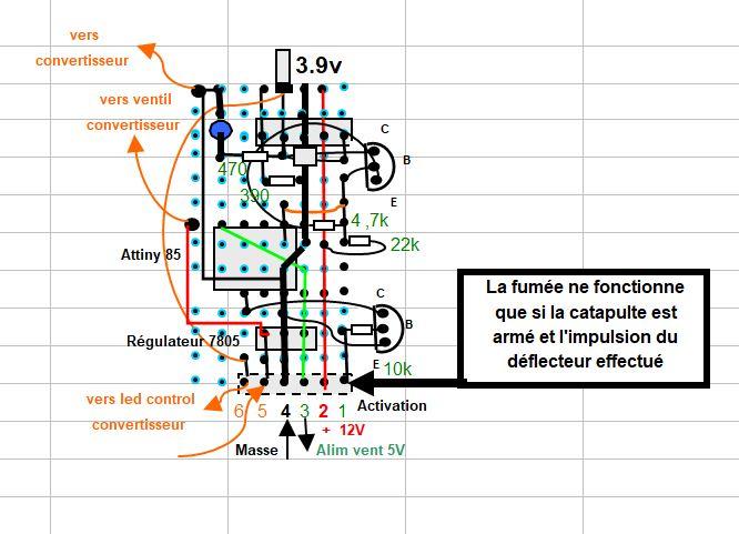 Réalisation d'un effet de vapeur sur catapulte du PA Foch Captur18