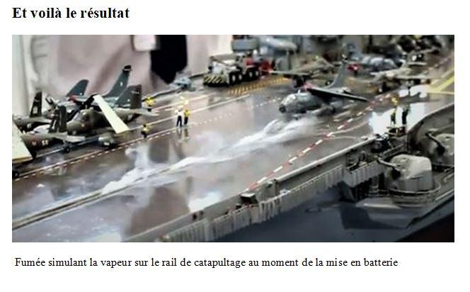 Réalisation d'un effet de vapeur sur catapulte du PA Foch Captur21