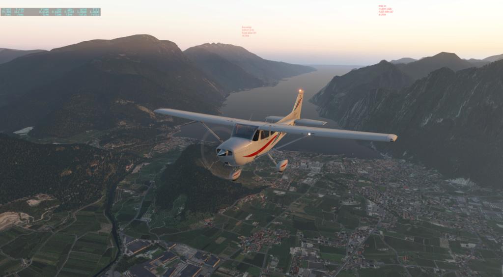 Survol du lac de Garde Cessna10