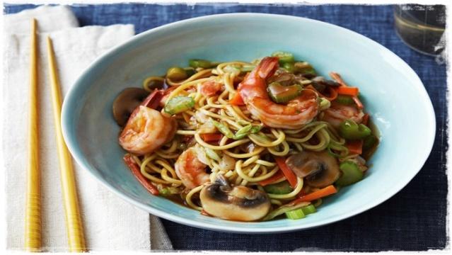Lo mein con gamberi - PRIMO Cckel311