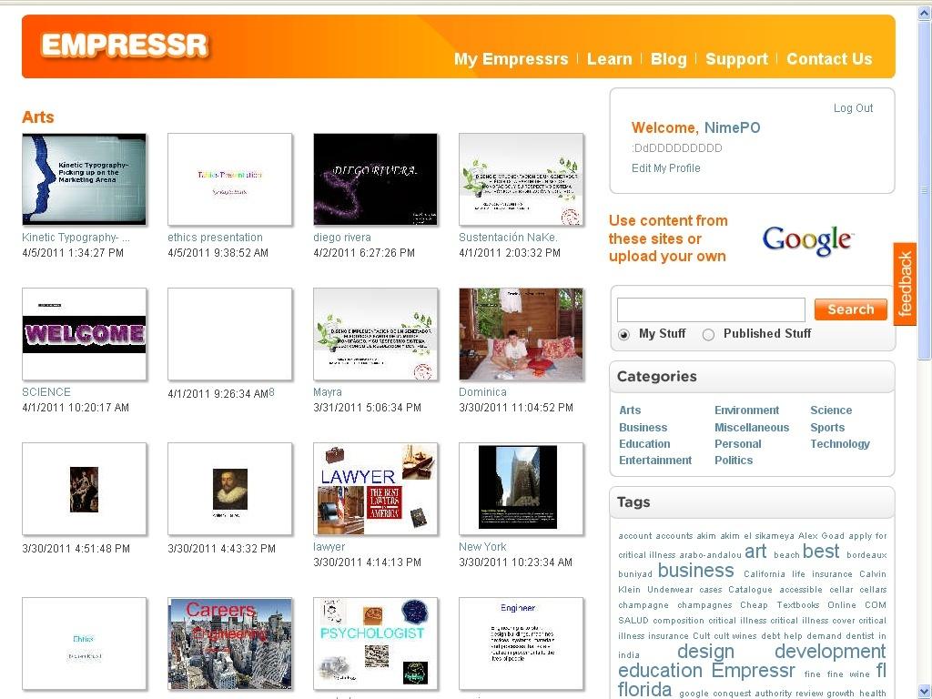 Empressr : presentaciones multimedia online 310