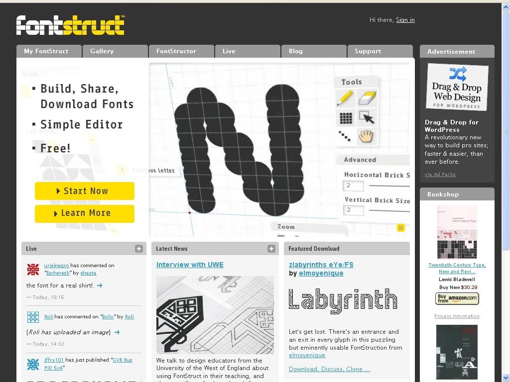 Fontstruct : Crea y descarga fuentes 612