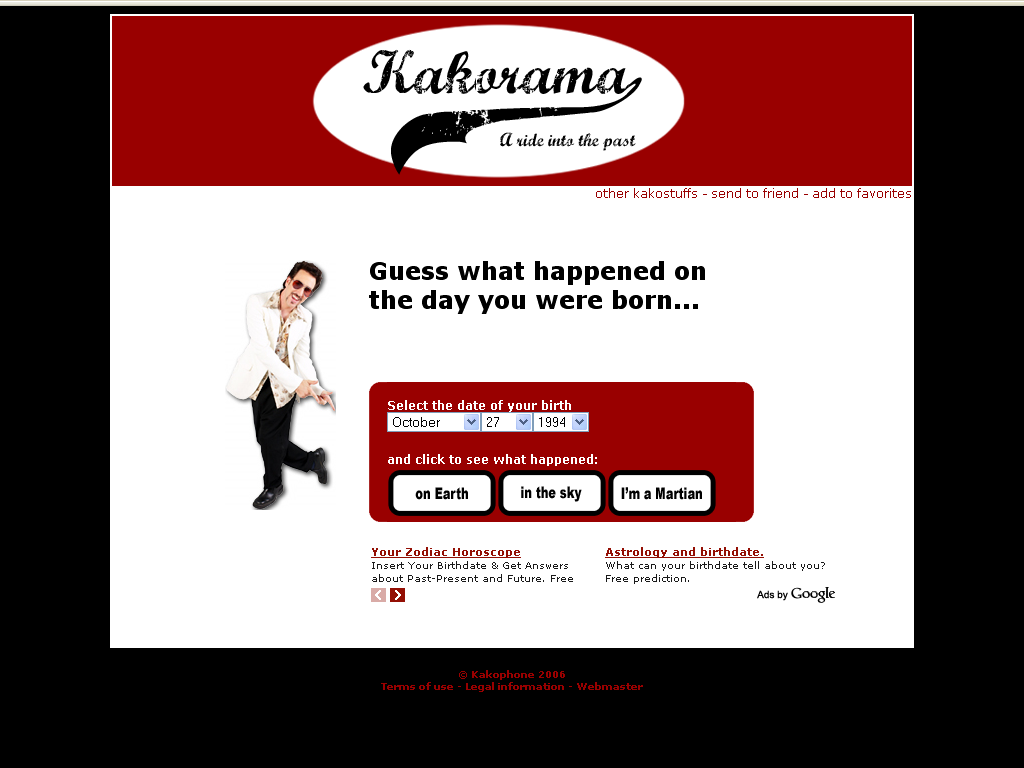 Kakorama: Lo paso en el mundo el dia de tu nacimiento 910