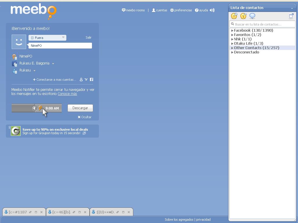 Meebo : accesador multiple a mensajerias instantaneas Maeebo10