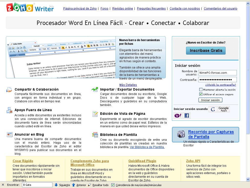 Zoho Writer : Procesador Word En Línea Fácil Zoho10