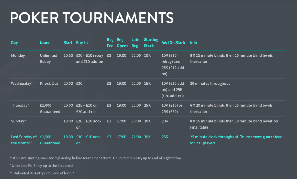 Aspers Northampton Latest Schedule Aspers10