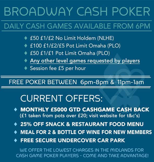 Broadway Poker Offering - Cash Poker Only Broadw10
