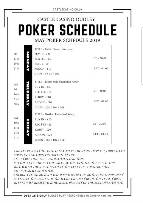New Dudley Castle Schedule Dudley11