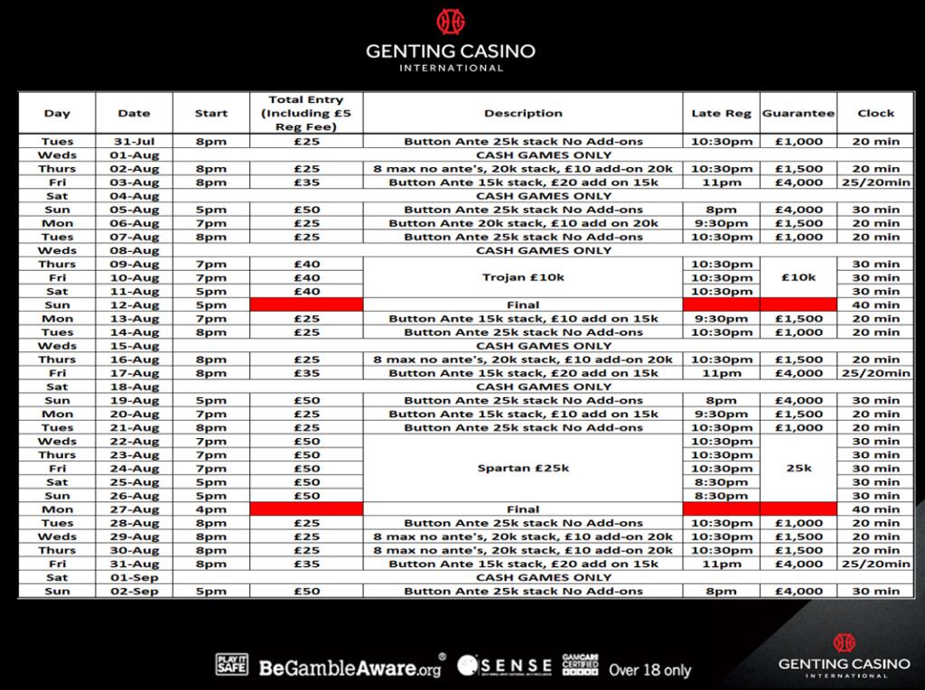 Resortsworld August Programme Gentin10