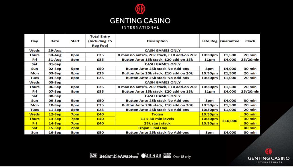 Genting Resortsworld September Programme Grw10