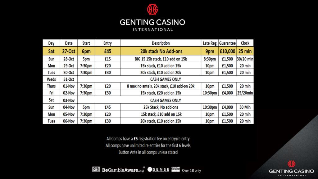Resortsworld Programme til 22nd November Grw11