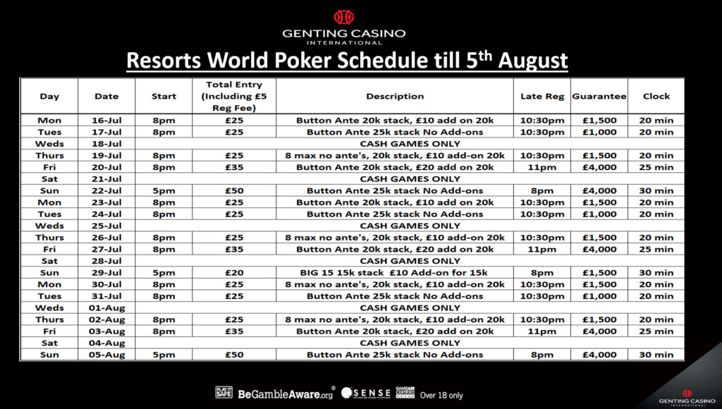 Resortsworld- Schedule till August Resort10