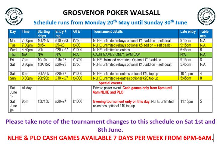Walsall Grosvenor Schedule for June Walsal10