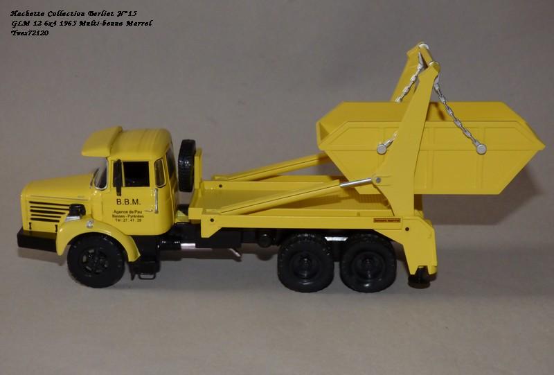 """N°15 - Berliet GLM 12 6x4 1965 """"Multi-benne Marrel"""" Hache119"""