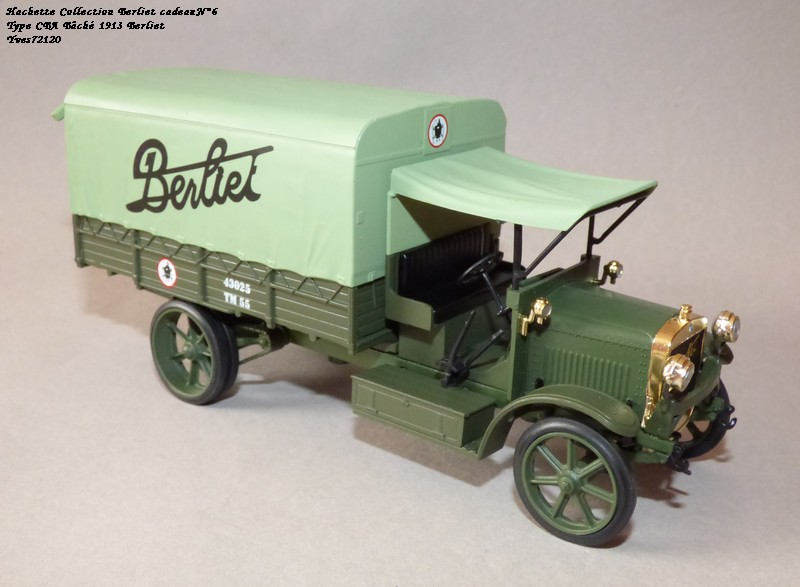 "N°00 - cadeau 4 Berliet Type CBA 1913 bâché  ""Berliet""   Hache123"