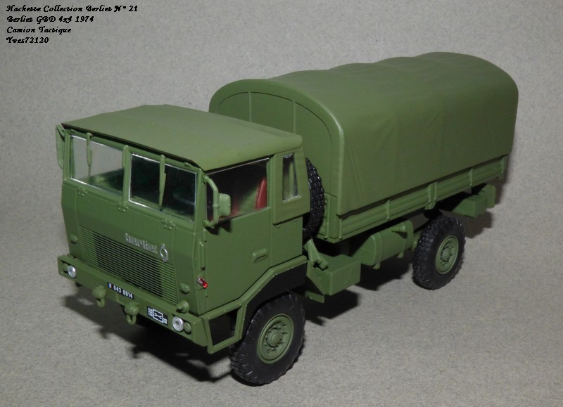 N°21- Berliet GBD 4X4 Camion tactique Militaire 1974 Hache143