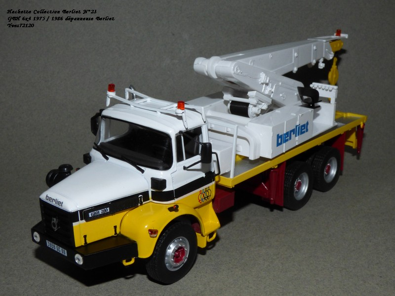 N°23- Berliet GBH 280 6 X 4  Dépanneuse Berliet  1975 / 1986  Hache178