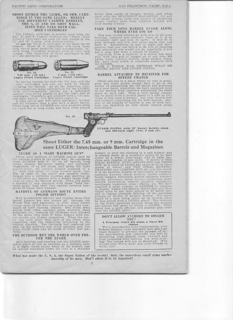 Les étuis et accessoires des Luger commerciaux d'artillerie. Catalo11