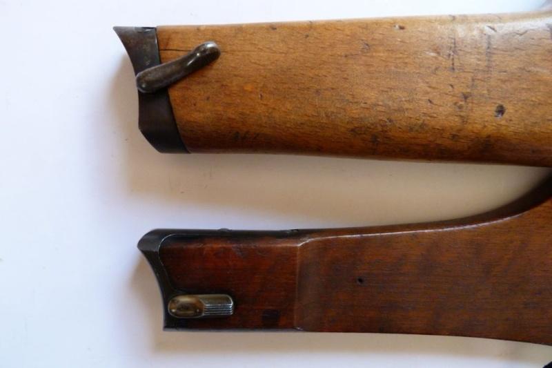 Les étuis et accessoires des Luger commerciaux d'artillerie. Crosse23