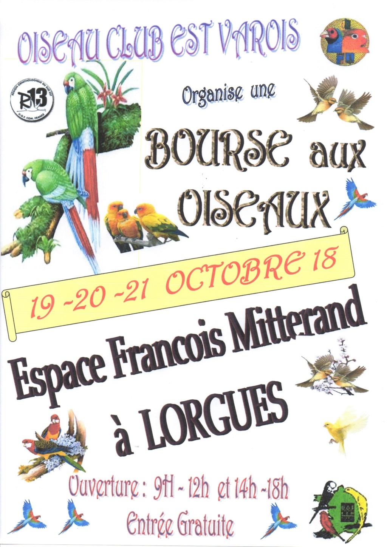 Bourse à Lorgues (19-20-21/10/2018)  Affich10