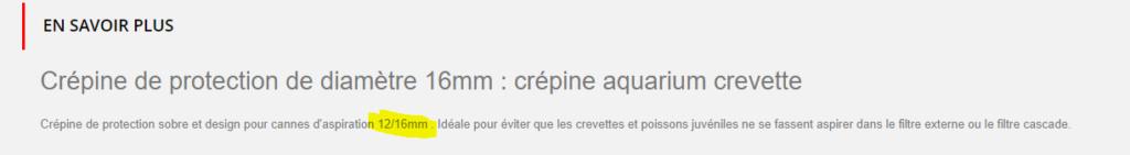 Crépine anti-crevettes sur JBL e1500? 1622810