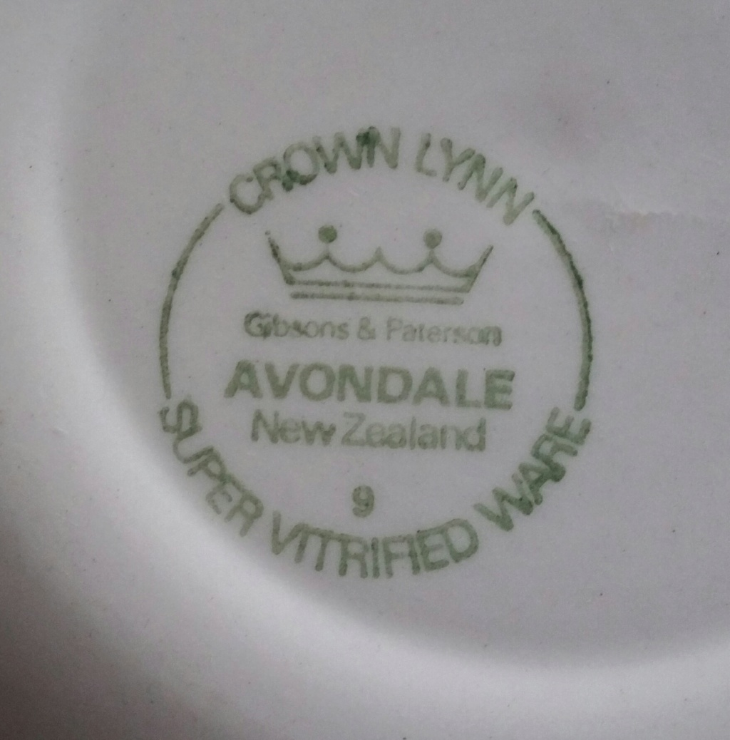 Avondale by Crown Lynn for Gibsons & Paterson 20181210