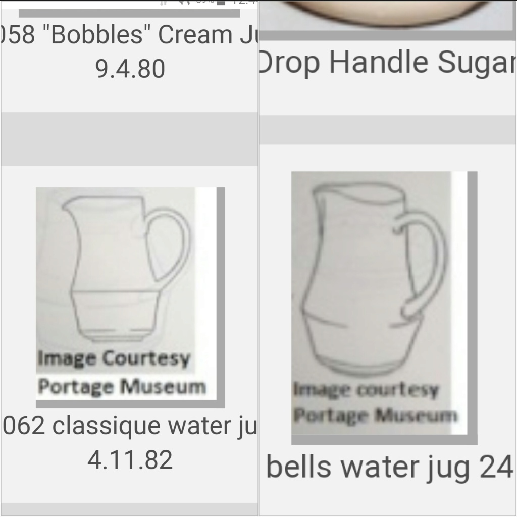 1352 Bells Water Jug and 6062 Classique jug for the shape gallery 2019-011