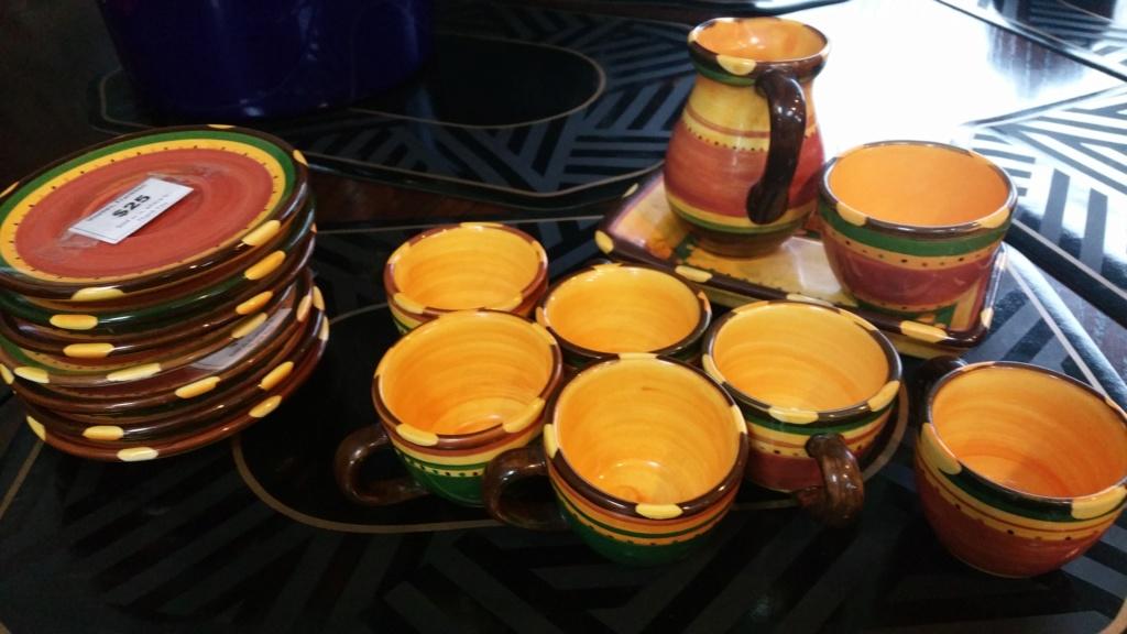 Studio ceramics large jug and demitassee set 20190530