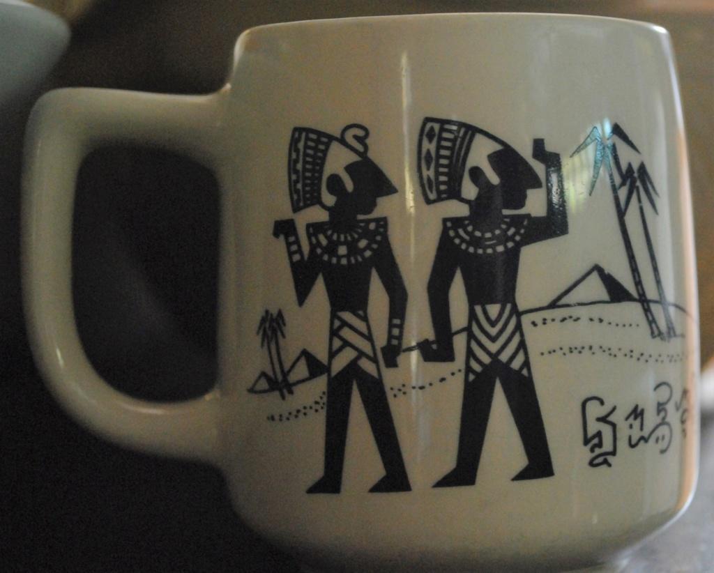 Walk like an Egyptian on a Shape 1151 Mug Dsc_8610