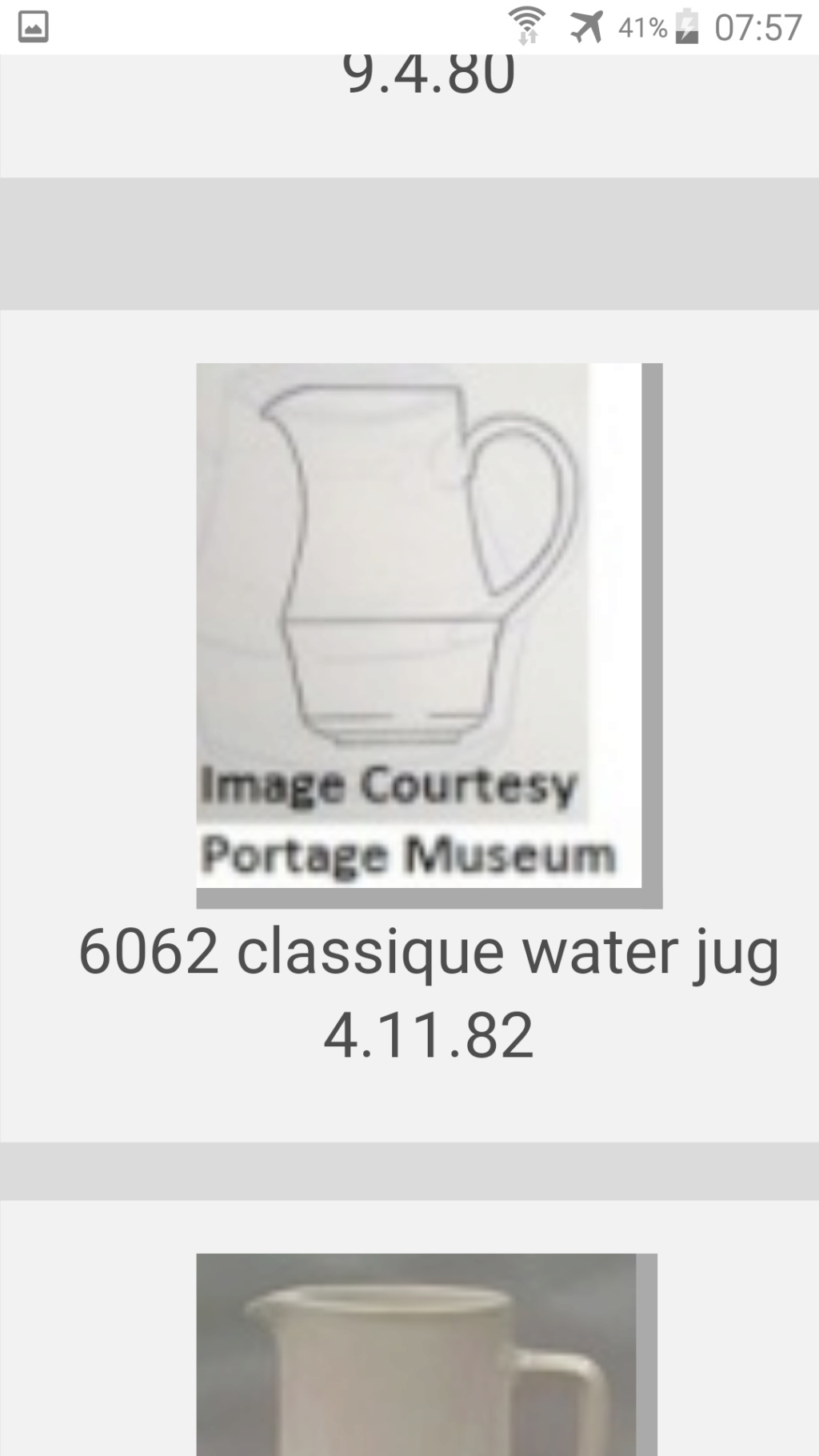 1352 Bells Water Jug and 6062 Classique jug for the shape gallery Screen20