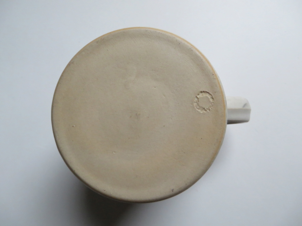 Small stoneware mug, impressed name in circle mostly obscured  Img_1316