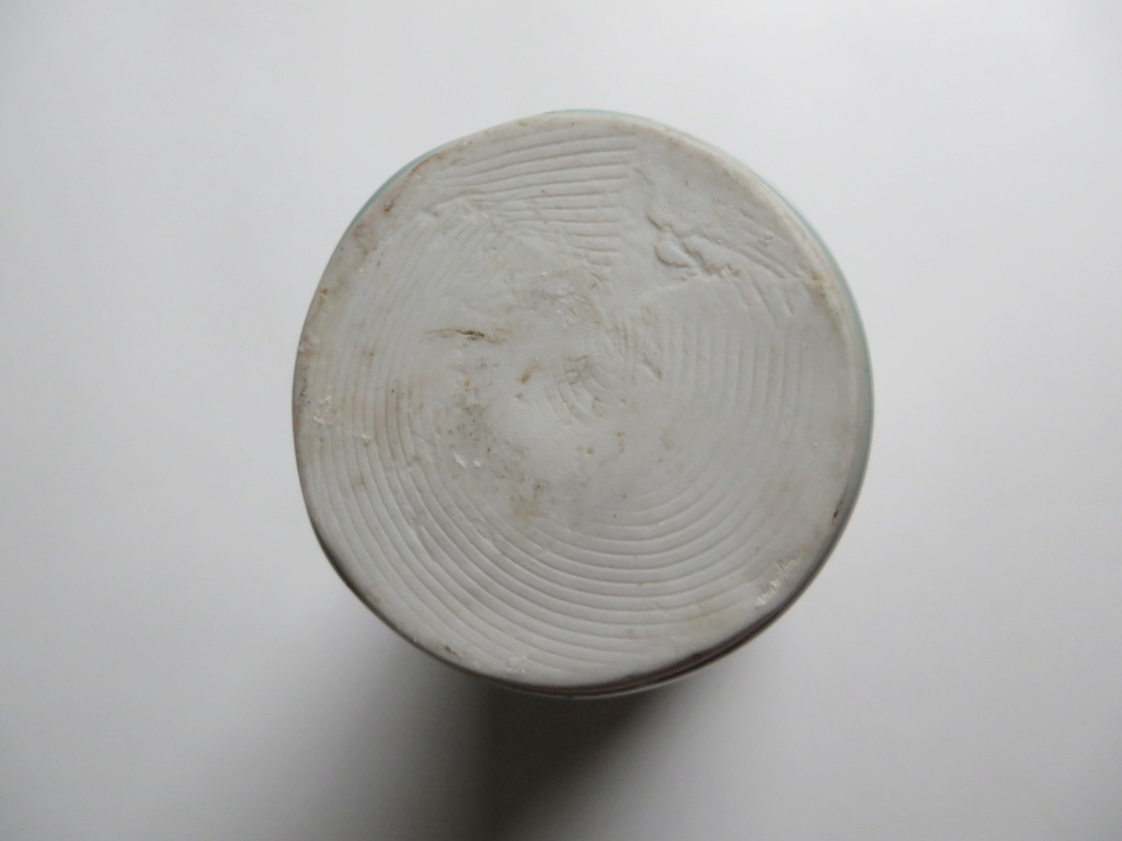 Celadon glazed porcelain vase with shell decoration - square and S mark Img_8810