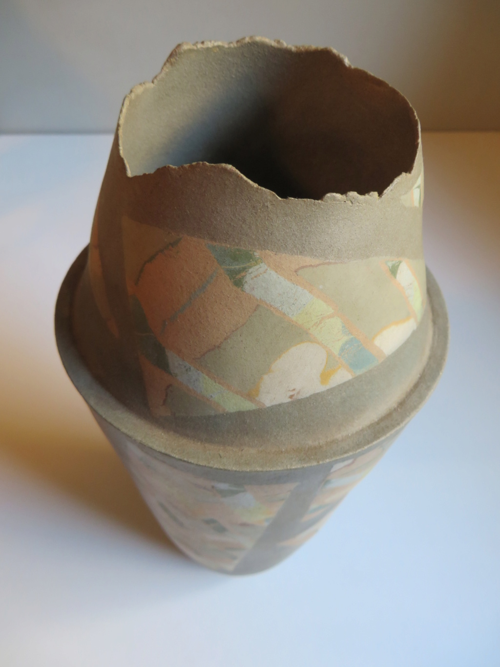 Bullet shaped vase with incised triangle mark - Tina Vlassopulos Img_9713