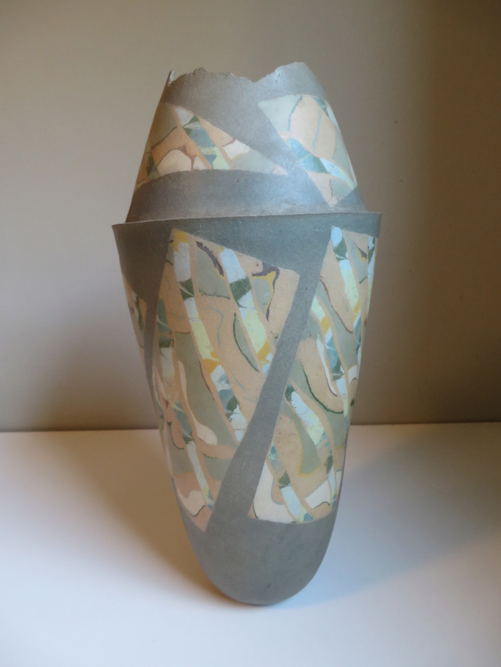 Bullet shaped vase with incised triangle mark - Tina Vlassopulos Img_9714