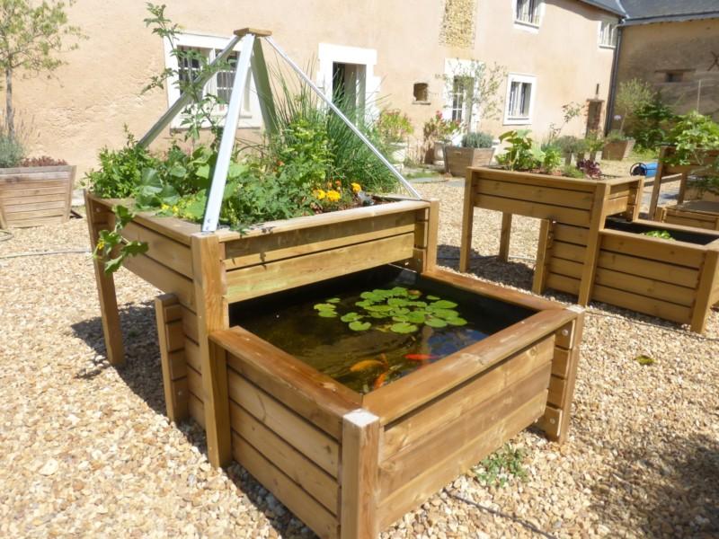 Petit bassin hors sol en bois 20190810