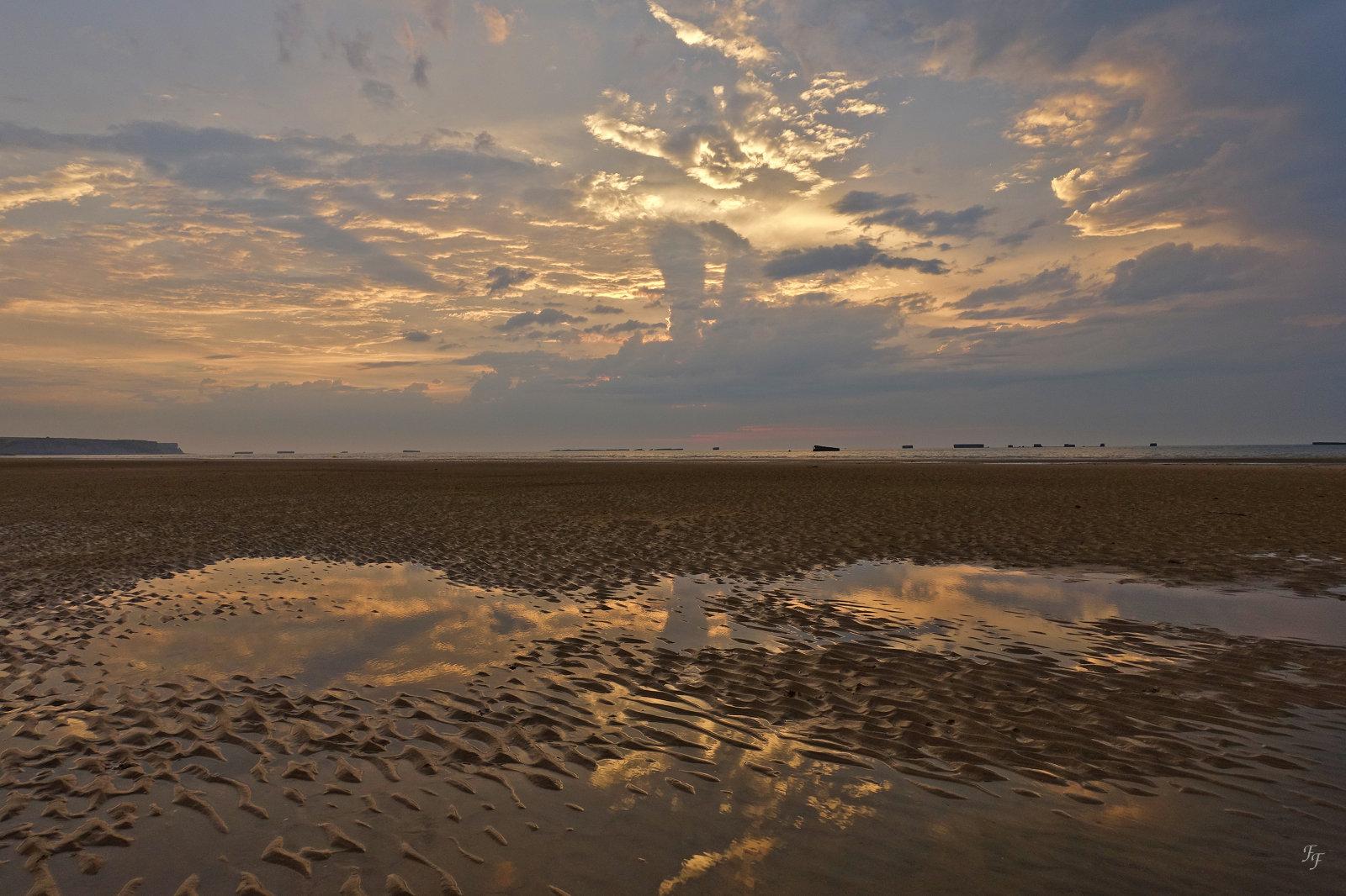 Coucher de Soleil sur une plage normande A2018_18