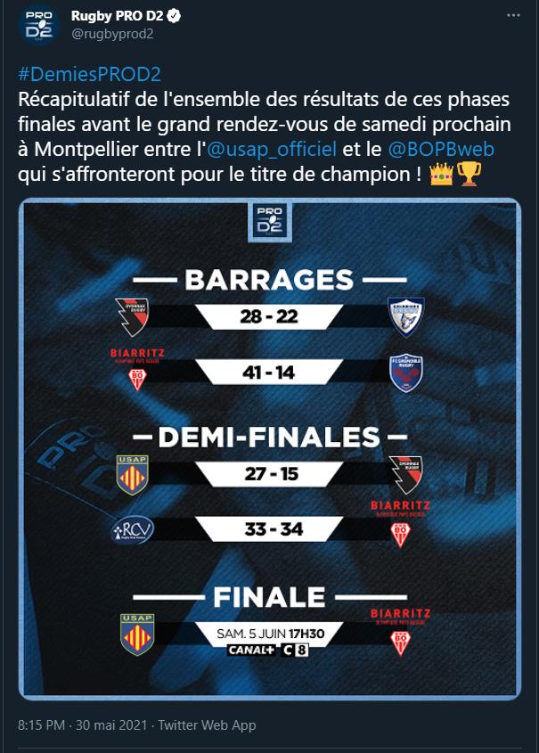 Pro D2 : Autres matchs - Page 8 Finale11