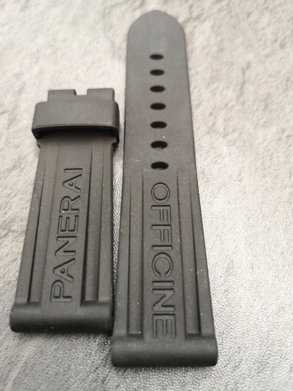 panerai - [Vends] Bracelet Panerai rubber noir OEM 24X22mm Img_2133