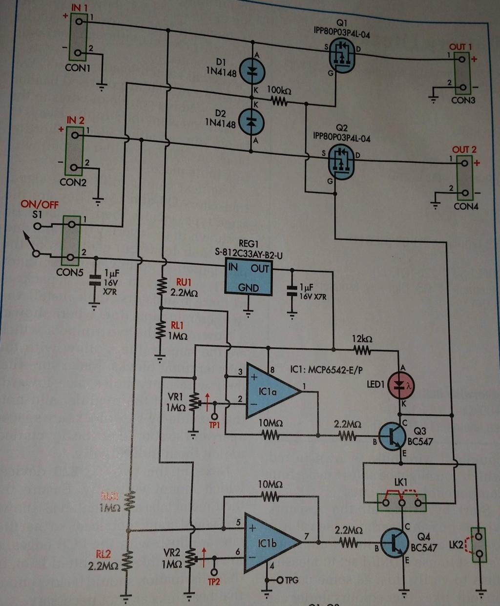 Lipo cut off circuit - Practical Electronics magazine - November 2021 Ciruit12